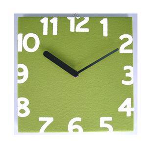 壁掛け時計 Torno グリーン - 拡大画像
