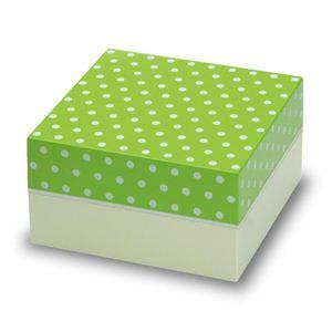 お重・お弁当箱 Paletteパレット オードブル重 2段 ドット グリーン - 拡大画像