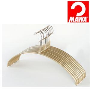 MAWA(マワ)社 10本セット マワハンガー 滑らないハンガー レディースライン ゴールド