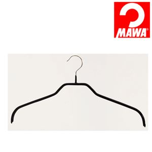 MAWA(マワ)社 10本セット マワハンガー 滑らないハンガー レディースハンガー ブラック