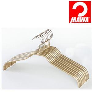 MAWA(マワ)社 10本セット マワハンガー 滑らないハンガー レディースハンガー ゴールド