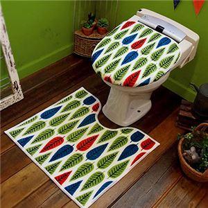 オカトー HOKUORU トイレ2点セット 洗浄・暖房用 カラフルリーフ - 拡大画像