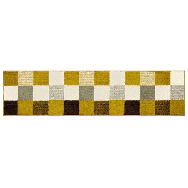 オカトー 休足力インテリアマット 45×180cm ブロックブラウン