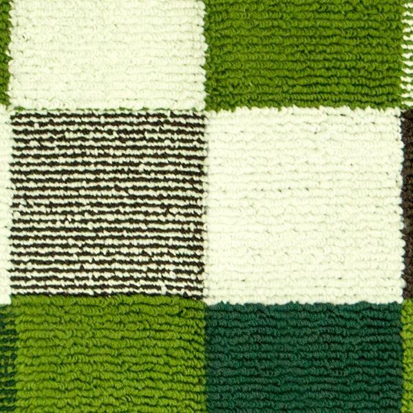 オカトー 休足力インテリアマット 45×252cm ブロックグリーン