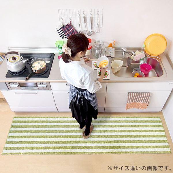 オカトー 洗えるインテリアマット チョイス 60×180cm グリーン