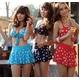 2012新作水着☆甘すぎないビーチガール♪キュートな星柄ビキニ3点セット(ネイビーM)