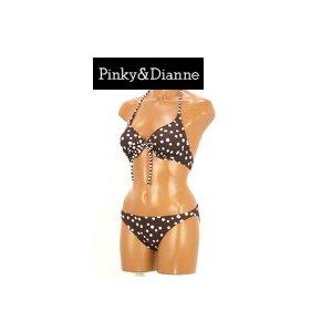 【Pinky&Dianne】リラックス水玉ホルタービキニカバーアップ付