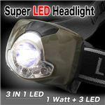 遂に登場 SLED1w+高輝度LED3灯採用 SuperLED スーパーLEDヘッドライト 1点
