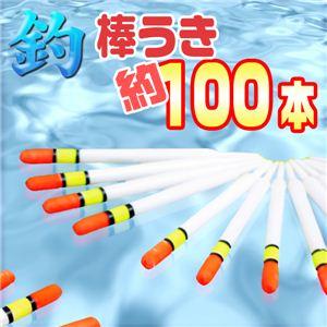 初心者、お子様に!シンプルで動きが見やすい! 海釣り等に 棒ウキ約100本入り 釣具 1セット(約100本) - 拡大画像