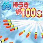 初心者、お子様に!シンプルで動きが見やすい! 海釣り等に 棒ウキ約100本入り 釣具 1セット(約100本)