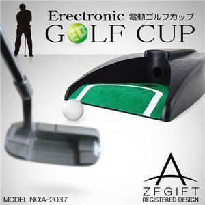 【ゴルフの練習に】自動でボールが帰ってくる!同じ位置で永遠と練習できます 電動ゴルフカップ 1点 - 拡大画像