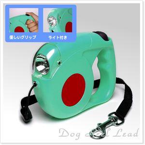 【日本語パッケージ】ペット犬の散歩に 伸びたり縮んだり リールリード 全6色 青1個