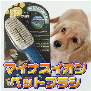 愛犬に癒しのひとときを。。消臭効果もあります! マイナスイオンペットブラシ 1点 - 拡大画像