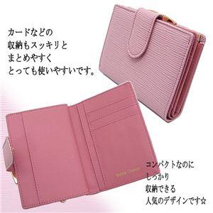 コンパクトに BonneChanceがま口財布 ピンク ピンク 1点 - 拡大画像