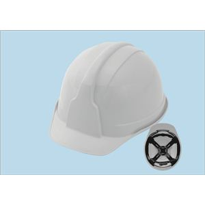 ヒサシ付ヘルメット 【使用区分】飛来落下物用・墜落時保護用・電気用 【5個セット】 SS-100 白