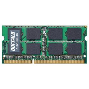 バッファロー PC3-8500(DDR3-1066)対応 204Pin用 DDR3 SDRAM S.O.DIMM for Mac A3N1066-4G - 拡大画像