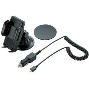 エレコム スマートフォン用車載ホルダー/シガーチャージャー付き MPA-CH001UCBK