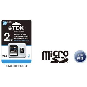 TDK microSDカード2GB SDアダプター付属 T-MCSD2GB - 拡大画像