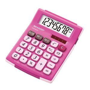シャープ ラバーフィット電卓(ミニミニナイスサイズタイプ/ピンク) EL-760H-PX - 拡大画像