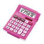 シャープ ラバーフィット電卓(ミニミニナイスサイズタイプ/ピンク) EL-760H-PX