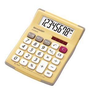 シャープ ラバーフィット電卓(ミニミニナイスサイズタイプ/イエロー) EL-760H-YX - 拡大画像