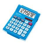 シャープ ラバーフィット電卓(ミニミニナイスサイズタイプ/ブルー) EL-760H-AX