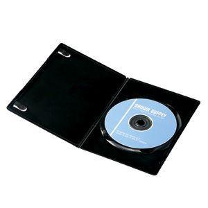 【訳あり・在庫処分】サンワサプライ スリムDVDトールケース(1枚収納) ブラック DVD-U1-10BK