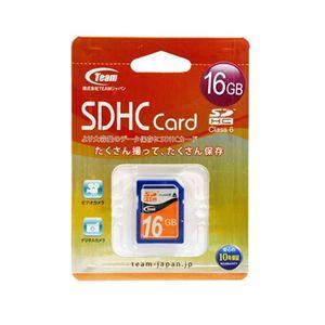 Team SDHCカード 16GB Class6 TG016G0SD26A - 拡大画像