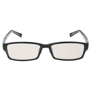 ELECOM(エレコム) ブルーライトカット眼鏡 ラージスクエアタイプ ブラック/パープル OG-FBLP03BK/PU - 拡大画像