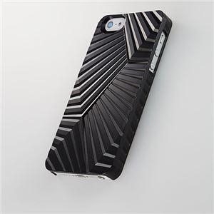 トリニティ 次元シリーズ iPhone 5用 峰 3Dテクスチャーカバー(漆黒)[Jigen Series 3D Textured Cover for iPhone 5 Ridge Shikkoku] TR-JGIP5-MSK - 拡大画像