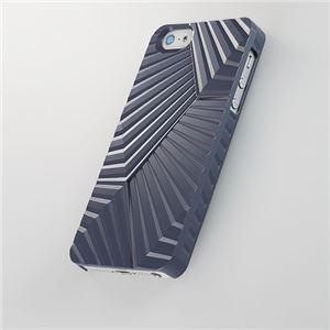 トリニティ 次元シリーズ iPhone 5用 峰 3Dテクスチャーカバー(紺鼠)[Jigen Series 3D Textured Cover for iPhone 5 Ridge Konnezu] TR-JGIP5-MKN - 拡大画像