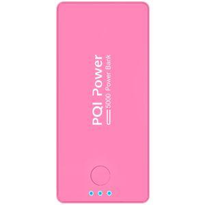 PQI Japan <PQI-Power5000C>リチウムポリマー搭載モバイルバッテリー(5000mAh/5V2A/ピンク) 6PPA-06BR0004A