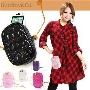 Gucciny&Co 【ハートキルティング・ラウンドファスナー ガジェットケース】 iphone4iphone4s ディープパープル - 拡大画像