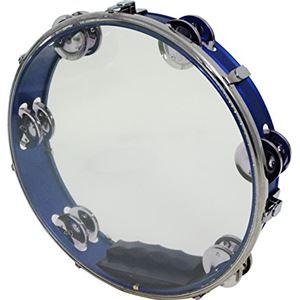 KC プラスチックヘッド付き タンバリン ブルー HMT-SH/BL