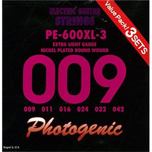PGフォトジェニックエレキギター弦PE-600XL-33セットパック(009-042)PE-600XL-3