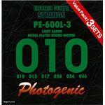 PG フォトジェニック エレキギター弦 PE-600L-3 3セットパック (010-046) PE-600L-3