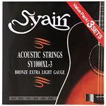S.Yairi アコースティックギター弦 SY-1000XL-3 3セットパック エクストラライト (011-050) SY-1000XL-3