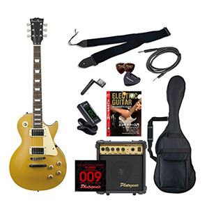 PG エレキギター 初心者入門エントリーセット レスポールタイプ LP-260/GD ゴールド - 拡大画像