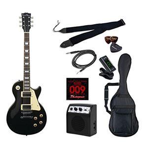 PG エレキギター 初心者入門ライトセット レスポールタイプ LP-260/BK ブラック - 拡大画像