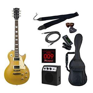 PG エレキギター 初心者入門ライトセット レスポールタイプ LP-260/GD ゴールド - 拡大画像