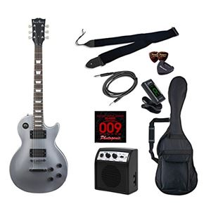 PG エレキギター 初心者入門ライトセット レスポールタイプ LP-260/SV シルバー - 拡大画像