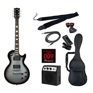 PG エレキギター 初心者入門ライトセット レスポールタイプ LP-260/SVB シルバーバースト - 拡大画像