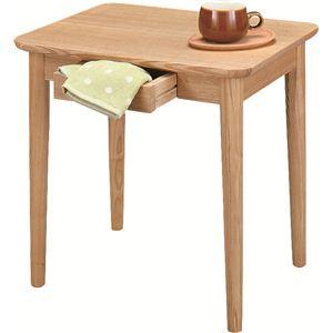 サイドテーブル 【モタ】 木製 引き出し収納付き HOT-334NA ナチュラル - 拡大画像
