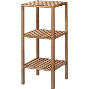収納棚(シェルフ) 木製 2段 幅35cm スリム LFS-352NA ナチュラル - 拡大画像