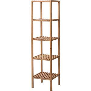 収納棚(シェルフ) 木製 4段 幅35cm スリム LFS-354NA ナチュラル - 拡大画像