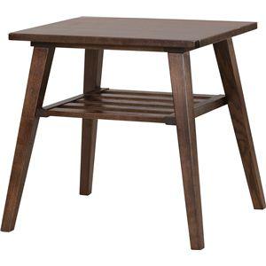 サイドテーブル 【モティ】 長方形 木製 棚収納付き RTO-743TBR ブラウン - 拡大画像