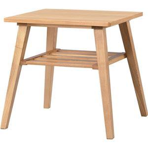 サイドテーブル 【モティ】 長方形 木製 棚収納付き RTO-743TNA ナチュラル - 拡大画像