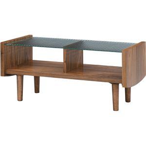 【ぬくもり家具】Tomteトムテ 天然木グラストップテーブル TAC-240WAL - 拡大画像