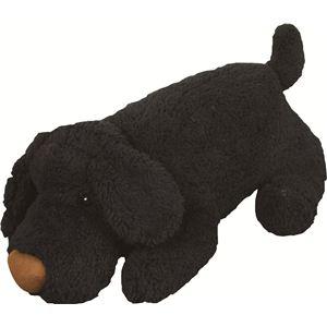 ドッグ抱き枕 ノルフィー ドールクッション ブラック - 拡大画像