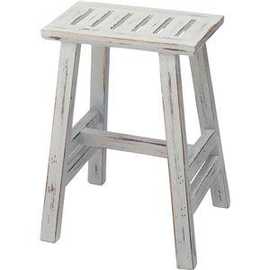 ベンチ(ソーレ スツール) 木製 高さ44cm [カントリー雑貨&家具] LFS-491BW - 拡大画像